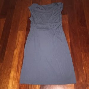 Gray/ blue casual dress from Ann Taylor size: 12